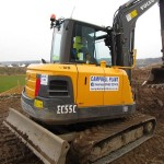 5.5T Excavator  Track Length 2500mm Width 1850mm Height 2563mm