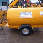 950L Fuel Bowser Length 2014mm Width 1155mm Height 1260mm Empty weight 390Kg Full weight 1245Kg Built in fork pocket