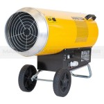 Gas Heater 350.000btu/h Air Displacement 3.260m³/h Fuel Consumption 6.66Kg/h Dimensions 940 x 390 x 620 mm Weight 27.5Kgs