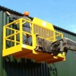 Manbasket Quick Access to Working at Height with a Telehandler