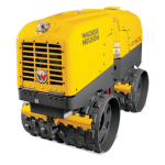 Remote Control Double Drum Trench Roller Width 820mm Weight 1560Kgs HAVS 0m/s²